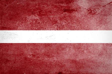 latvia: Grunge of Latvia flag