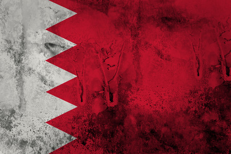 Grunge of Bahrain Flag  photo