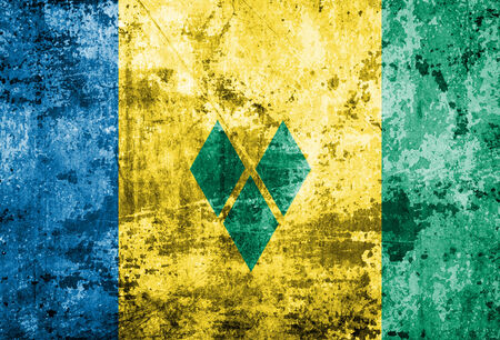 grenadines: Grungy Flag of Saint Vincent and the Grenadines