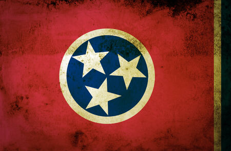 Grungy Flag of Tennessee on Vintage Paper  photo
