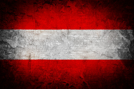 Grunge flag of European country Austria  photo