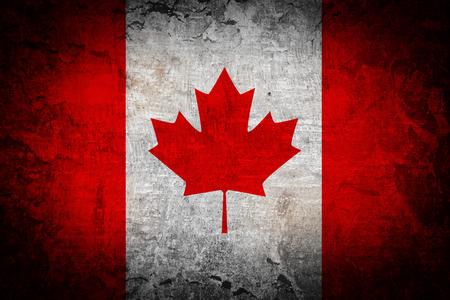 Canada Flag on grunge background