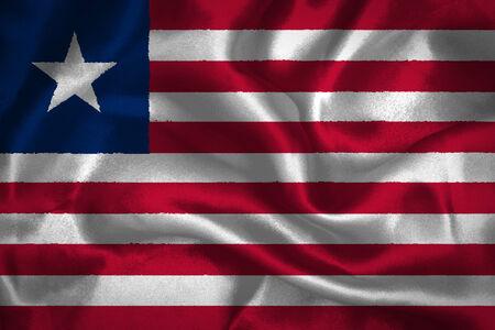 non    urban scene: Liberia waving flag