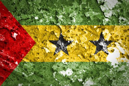 principe: Grunge bandera de Santo Tom� y Pr�ncipe