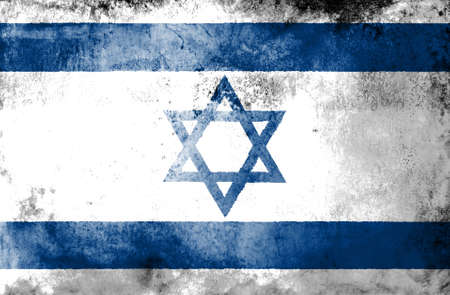 ancient israel: Grunge Israel Flag on dirty paper  Stock Photo