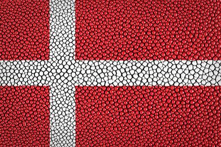 stingray: Denmark Flag painted on stingray skin texture  Stock Photo