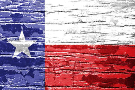 Texas State Flag painted on grunge wood  photo
