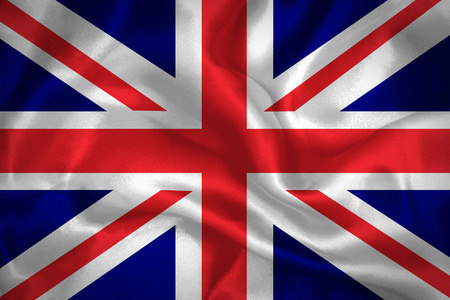 United Kingdom waving flag  photo