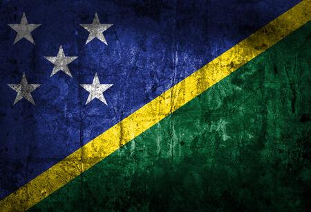 solomon: Grunge Solomon Islands Flag