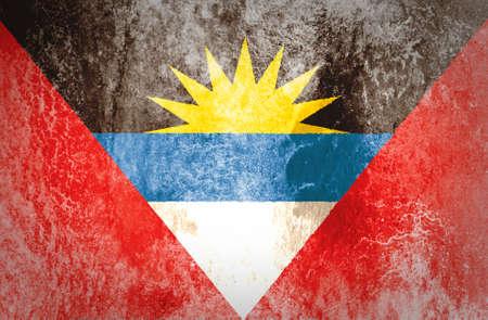 antigua: Grunge Antigua and Barbuda Flag