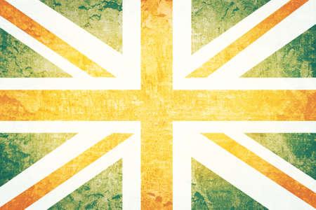 Vintage United kingdom flag grunge background