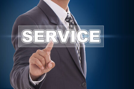 Businessman hand touching service on screen  photo