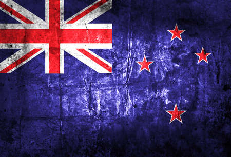 Grunge New Zealand Flag  Stok Fotoğraf