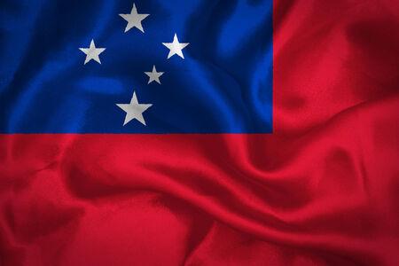 highness: Samoa waving flag