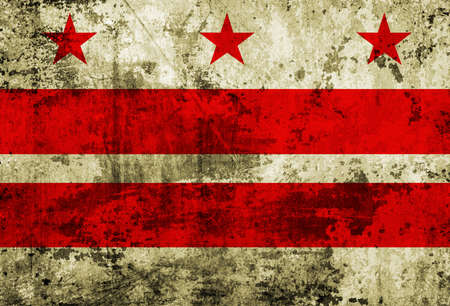 district of columbia: Washington DC Flag painted on grunge paper