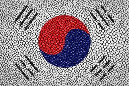 South Korea painted on stingray skin texture  photo