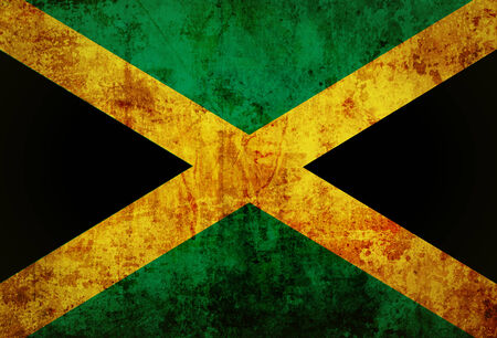 Jamaica flag on vintage paper  photo