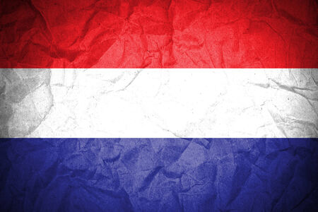 holand: Netherlands flag painted on crumpled paper
