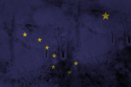 Grunge Flag of Alaska  photo