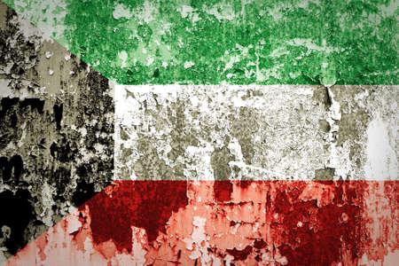 identidad cultural: Grunge bandera de Kuwait