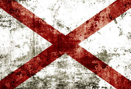 Grunge of Alabama flag  photo
