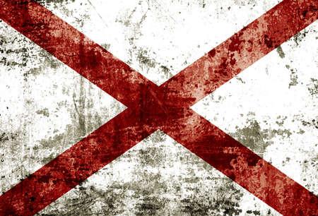 alabama flag: Grunge of Alabama flag  Stock Photo