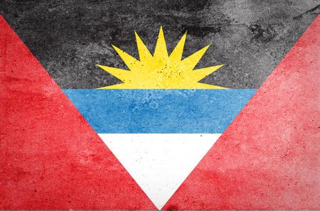 antigua: Grunge of Antigua and Barbuda Flag
