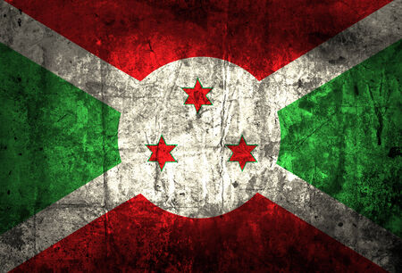 burundi: Grunge Burundi Flag  Stock Photo