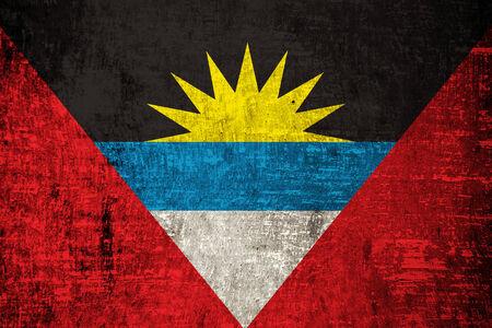 antigua: Antigua and Barbuda on old background