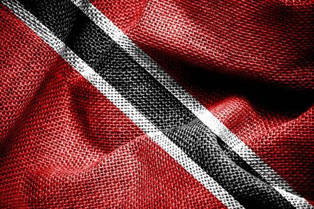 trinidad: Trinidad and Tobago Flag painted on fabric surface
