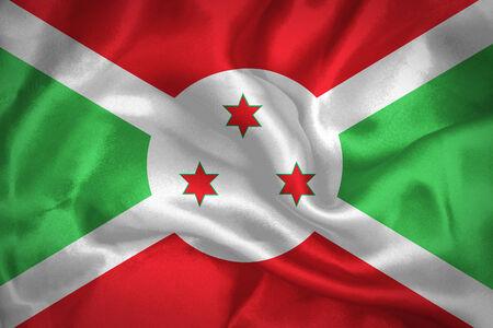 burundi: Burundi waving flag  Stock Photo