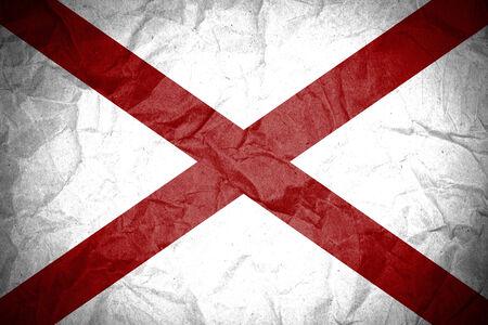 identidad cultural: Grunge de la bandera de Alabama Foto de archivo