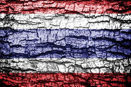 Grunge Thailand flag  photo