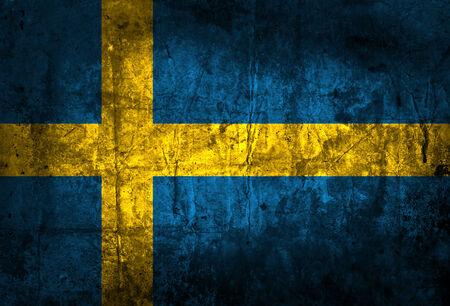 sweden flag: Grunge paese europeo Svezia Bandiera Archivio Fotografico