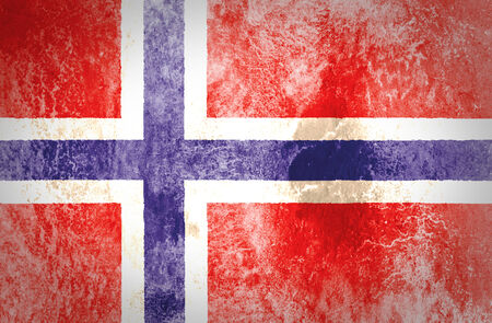 Norway Flag on grunge paper  photo
