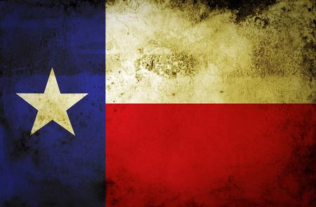 Grunge Texas state Flag on a grunge paper  Archivio Fotografico