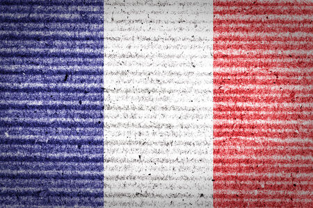 French flag of cardboard box  photo