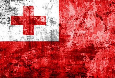 identidad cultural: Bandera de Tonga en el papel del grunge