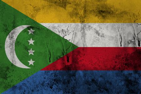 non    urban scene: Grunge Comoros Flag