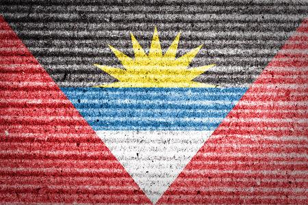 antigua: Antigua and Barbuda Flag on cardboard box