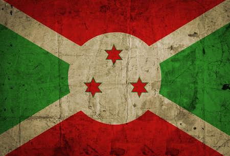 burundi: Grunge Burundi Flag  Stock Photo