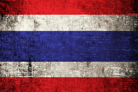 Thailand Flag painted on wood background  photo
