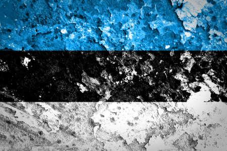 estonian: Estonian flag painted on concrete wall