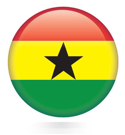 ghana: Ghana bouton drapeau Illustration