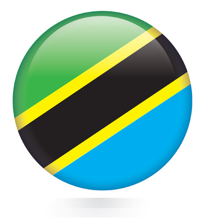 Tanzania flag button Stock Vector - 28874981