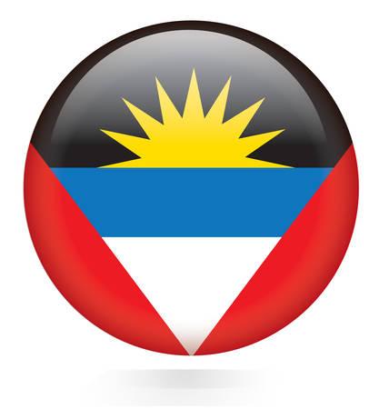 antigua and barbuda: Antigua and Barbuda flag button