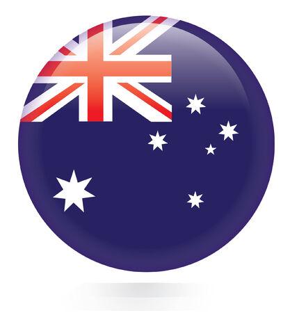 australia flag: Australia flag button  Illustration