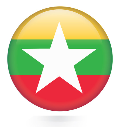 Burma Flag button