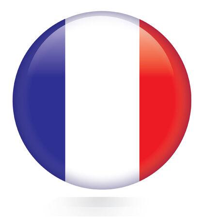 france: France flag button