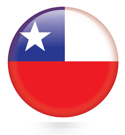 Chile Flag button  Vector